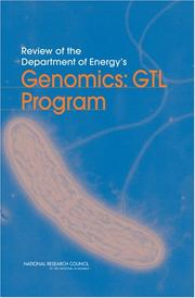 Cover of: Review of the Department of Energy's Genomics by National Research Council.