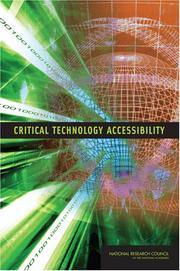 Cover of: Critical Technology Accessibility | National Research Council.