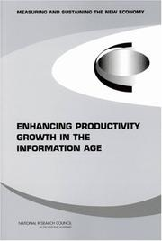 Cover of: Enhancing Productivity Growth in the Information Age | National Research Council.