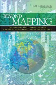Cover of: Beyond Mapping by National Research Council.