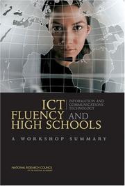 Cover of: ICT Fluency and High Schools | National Research Council.