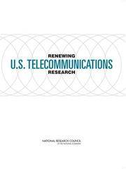 Cover of: Renewing U.S. Telecommunications Research by National Research Council.