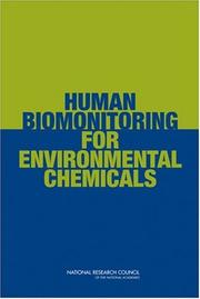 Cover of: Human Biomonitoring for Environmental Chemicals by National Research Council.