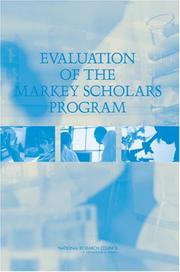 Cover of: Evaluation of the Markey Scholars Program | National Research Council.