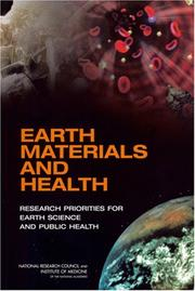 Cover of: Earth Materials and Health | National Research Council.