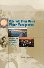 Cover of: Colorado River Basin Water Management | National Research Council.