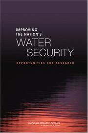 Cover of: Improving the Nation's Water Security | National Research Council.