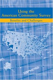 Cover of: Using the American Community Survey | National Research Council.
