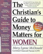 Cover of: The Christian's guide to money matters for women | Mary Lynne McDonald