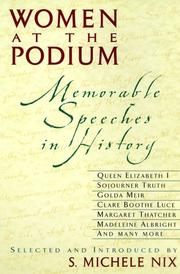 Cover of: Women at the Podium by S. Michele Nix