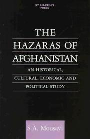 Cover of: The Hazaras of Afghanistan by Sayed Askar Mousavi