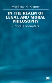 Cover of: In the realm of legal and moral philosophy | Matthew H. Kramer