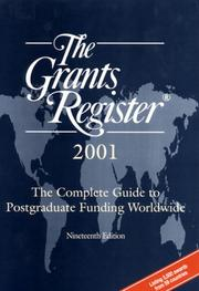 Cover of: The Grants Registerc, 2001 (Grants Register, 2001) | Waterlow Specialist Information Publishing