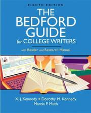 Cover of: The Bedford Guide for College Writers with Reader and Research Manual | Marcia Muth