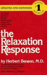 Cover of: The relaxation response by Herbert Benson