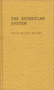 Cover of: The Keynesian system | David McCord Wright