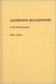 Cover of: Algernon Blackwood | Michael Ashley