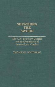 Cover of: Sheathing the Sword by Thomas E. Boudreau