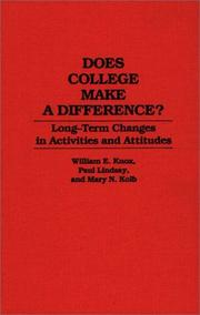 Cover of: Does college make a difference? | William Knox