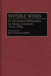 Cover of: Invisible wings | Betty Kaplan Gubert