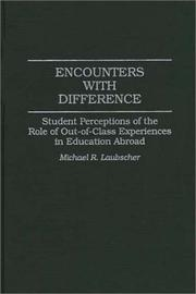 Cover of: Encounters with difference | Michael R. Laubscher