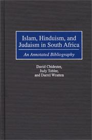 Cover of: Islam, Hinduism, and Judaism in South Africa by David Chidester