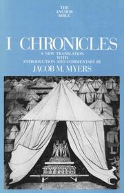 Cover of: I Chronicles (Anchor Bible Series, Vol. 12) by Jacob M. Myers