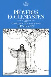 Cover of: Proverbs and Ecclesiastes by R.B.Y. Scott