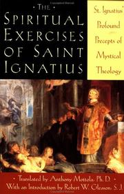 Cover of: Spiritual Exercises of Saint Ignatius | Anthony Mottola, Saint Ignatius of Loyola