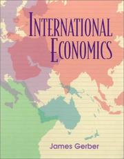 Cover of: International economics by James Gerber