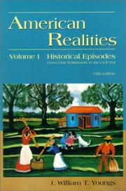 Cover of: American Realities, Volume I | J. William T. Youngs