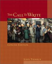 Cover of: The Call to Write, Concise Edition by John Trimbur