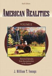 Cover of: American Realities, Vol. 2 | J. William T. Youngs