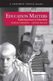 Cover of: Education Matters | Crystal McCage
