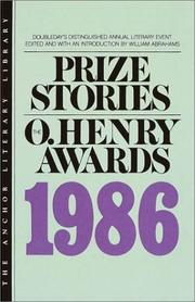 Cover of: Prize Stories 1986 | William Abrahams