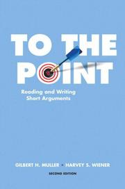 Cover of: To the point | Gilbert H. Muller, Harvey S. Wiener