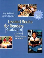 Cover of: Leveled Books for Readers, Grades 3-6 | Irene C. Fountas