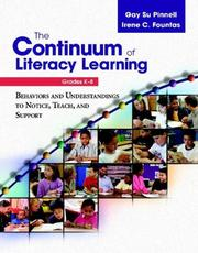 Cover of: The Continuum of Literacy Learning, Grades K-8 | Irene C. Fountas