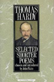 Cover of: Selected Shorter Poems by Thomas Hardy
