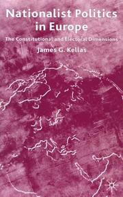 Cover of: Nationalist politics in Europe | Kellas, James G.