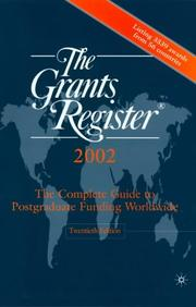 Cover of: The Grants Registerc, 2002 (Grants Register, 2002) | Waterlow Specialist Information Publishing