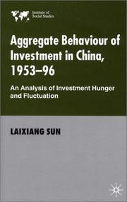 Cover of: Aggregate behaviour of investment in China, 1953-96 | Laixiang Sun