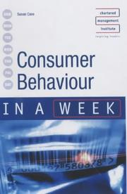 Cover of: Consumer Behaviour in a Week (In a Week) | Susan Cave