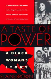 Cover of: A taste of power by Brown, Elaine