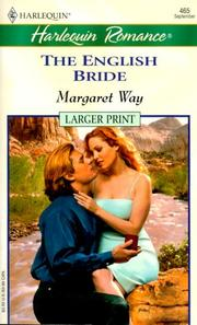 Cover of: English Bride (Legends Of The Outback) - Larger Print | Margaret Way