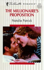 Cover of: The Millionaire's Proposition | Natalie Patrick