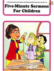 Cover of: Five-Minute Sermons for Children by Shining Star