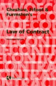 Cover of: Cheshire Fifoot and Furmston's Law of Contract by Michael Furmston