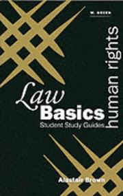 Cover of: Human Rights (Green's Law Basics) by Alastair N. Brown