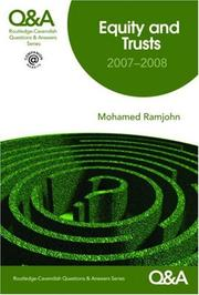 Cover of: Q&A Equity and Trusts 2007-2008 (Questions & Answers S.) | Mohamed Ramjohn